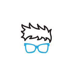 Geek glasses graphic design template isolated vector