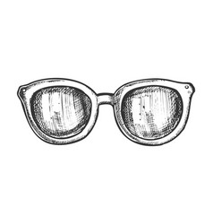 glasses horn-rimmed fashion accessory ink vector image