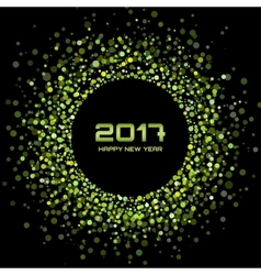 Green confetti circle New Year 2017 background vector