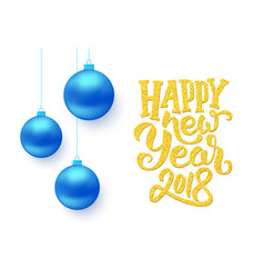 happy new year typography on card vector image