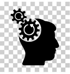 Head cogs rotation icon vector