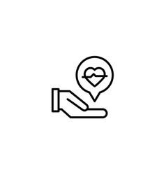 helath care icon vector image