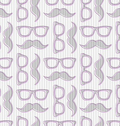 Hipster seamless pattern with glasses and m vector