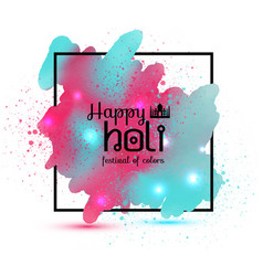 holi spring festival background with vector image