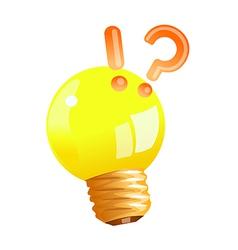 Icon light bulb vector