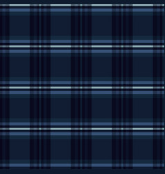 Indigo blue tartan stripes seamless pattern vector