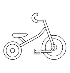 Kid tricycle icon outline style vector