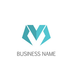 letter m business logo vector image