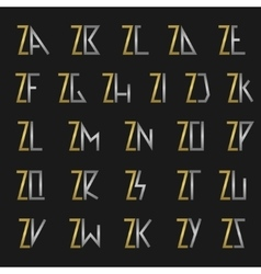 Letter Z with alphabet vector