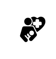 Life care icon flat design vector
