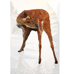 Low poly geometric of deer vector