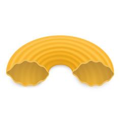 Macaroni icon realistic style vector
