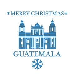 Merry Christmas Guatemala vector image