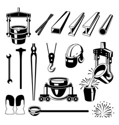 Metallurgical symbols set vector