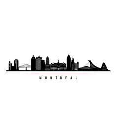montreal city skyline horizontal banner vector image