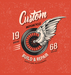 motorcycle club emblem vector image