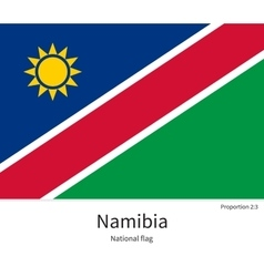 National flag of namibia with correct proportions vector