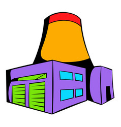 Nuclear power plant icon icon cartoon vector
