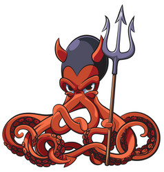 octopus the devil vector image