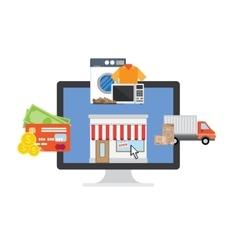 Online Shopping process vector