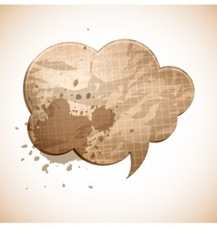 paper chat cloud vector image