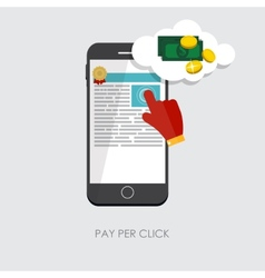 Pay Per Click Flat Concept for Web Marketing vector