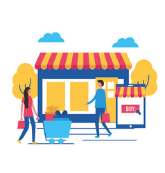 people online buying vector image