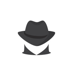 Picture of a secret agent Spy logo vector