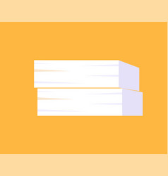 piles papers or documents vector image