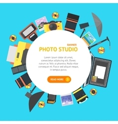 Professional Photo Studio Banner Card vector image vector image