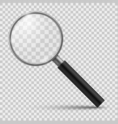 Realistic magnifier magnifying glass magnify vector