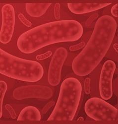 red bacterium organisms vector image