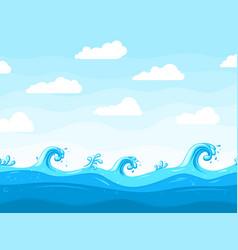 sea waves background ocean wave pattern water vector image