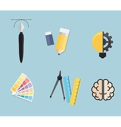 Set of Creative Tools Idea Graphic Design Concept vector