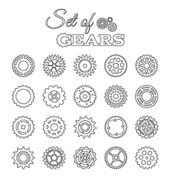 Set of linear gears vector
