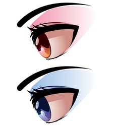 Side View of Eye vector image
