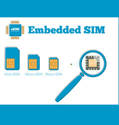 Sim card evolution concept in flat style vector