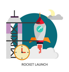 Space rocket launch image vector
