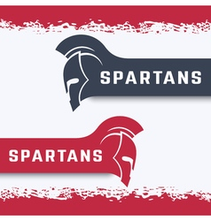 spartans logo with warrior helmet with mohawk vector image