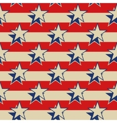 Stars stripes USA patriotic seamless background vector