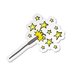 Sticker of a cartoon sparkler vector