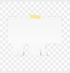 Tear-off paper template white advertisement paper vector