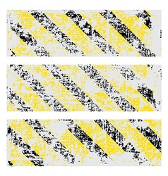Three old worn tattered scratch rectangular vector