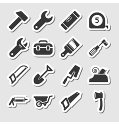 Tools Icons as Labels vector