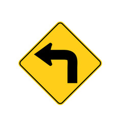 usa traffic road signs advance warning of a low vector image