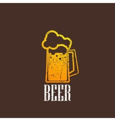 Vintage with a beer mug vector
