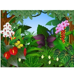 beautiful forest background vector image vector image