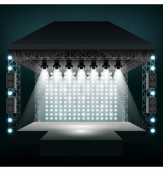 Concert stage with spotlights vector image
