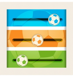 football infographic sliders vector image
