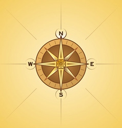 nautical rose compass vector image vector image